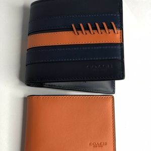 Coach 3-IN-1 Wallet With Baseball Stitch Midnight